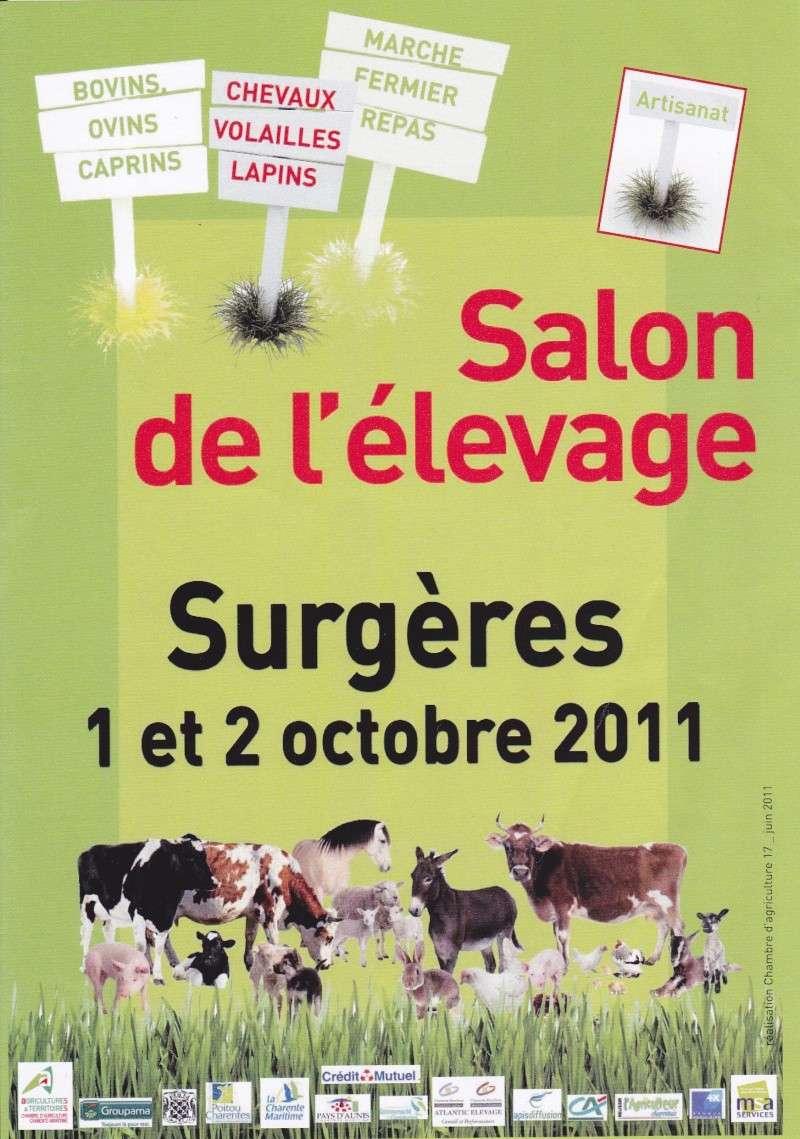 Salon de l 39 levage surg res le 1er et 2 octobre 2011 - Nombre de visiteurs salon de l agriculture ...