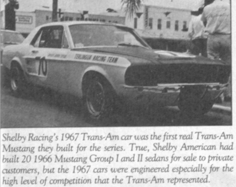 1967 shelby mustang group 2 sedan