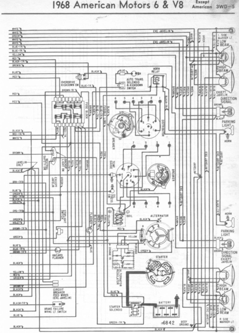 Wiring Diagrams For 1968 Amc Books Of Diagram Amx Rambler Hornet