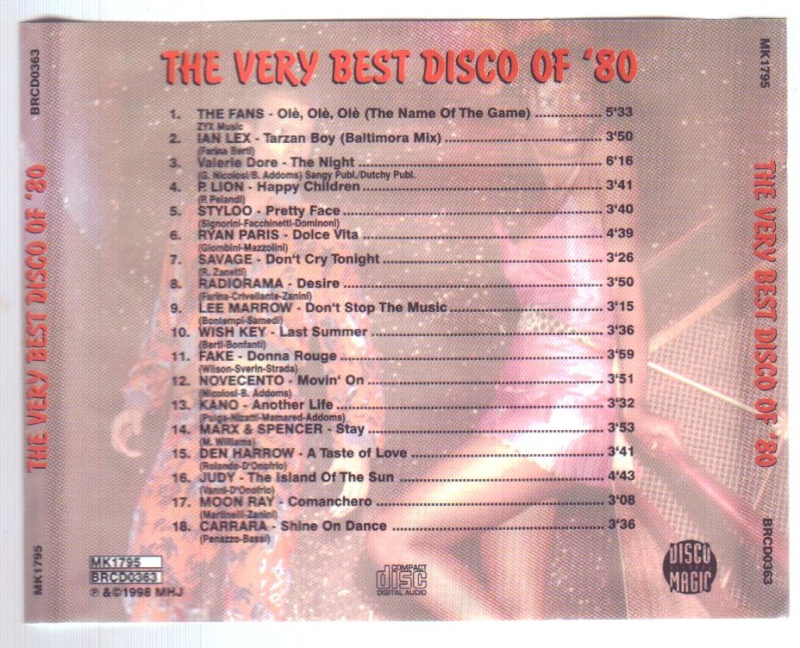 The Very Best Disco Of '80