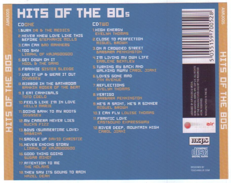 Hits Of The 80's 2 cd set