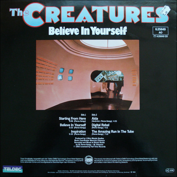 The Creatures - Believe In Yourself