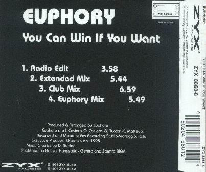 Euphory - You Can Win If You Want
