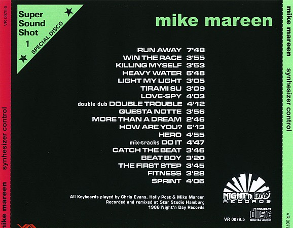 Mike Mareen - Synthesizer Control