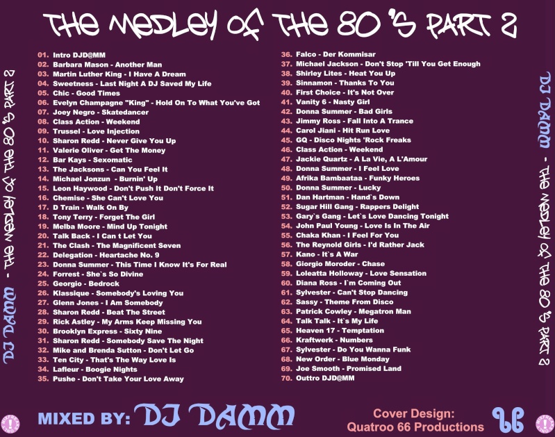 DJ DAMM - Medley Of The 80`s Part 2