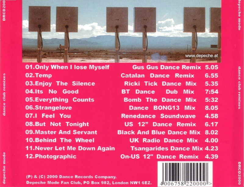 Depeche Mode - Dance Club Remixes 1981-2000