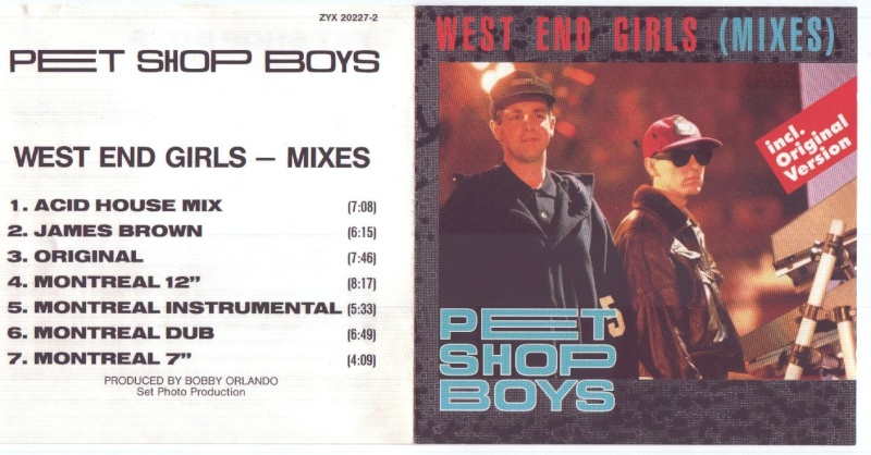 Pet Shop Boys - West End Girls - Remixes By Bobby Orlando