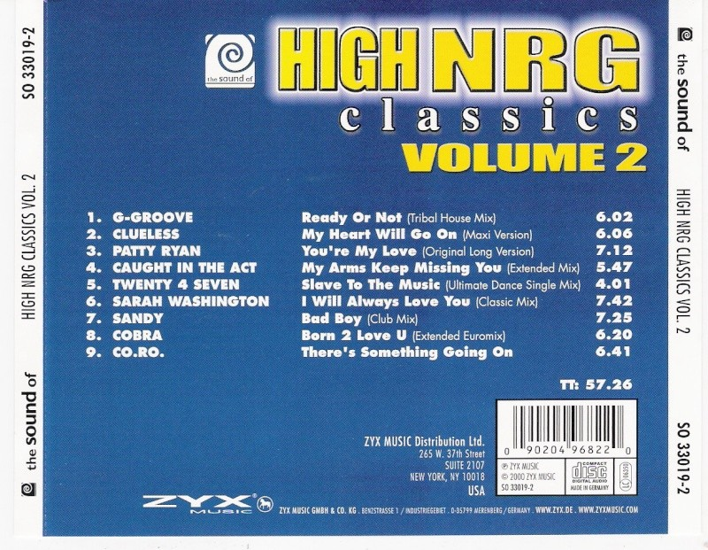 High Nrg Classics Vol.2