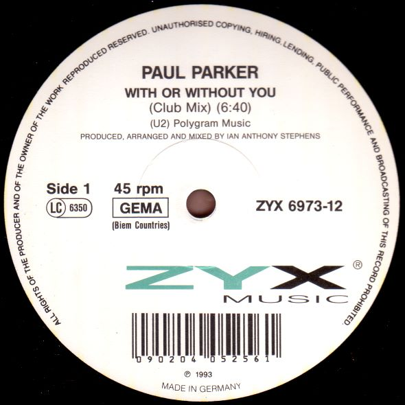 Paul Parker - With Or Without You