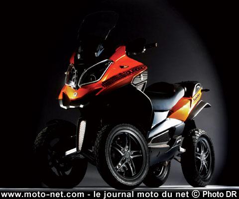 le scooter 4 roues quadro promis pour le salon de milan. Black Bedroom Furniture Sets. Home Design Ideas