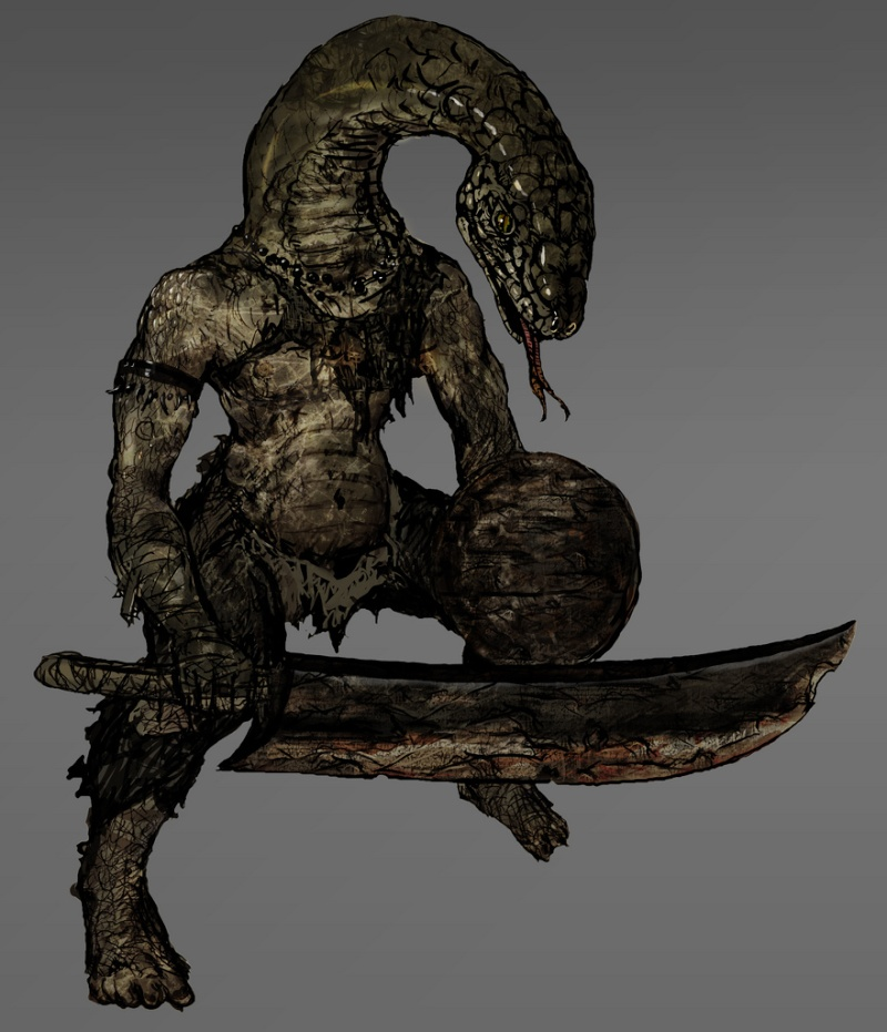 Dark Souls homme-serpent