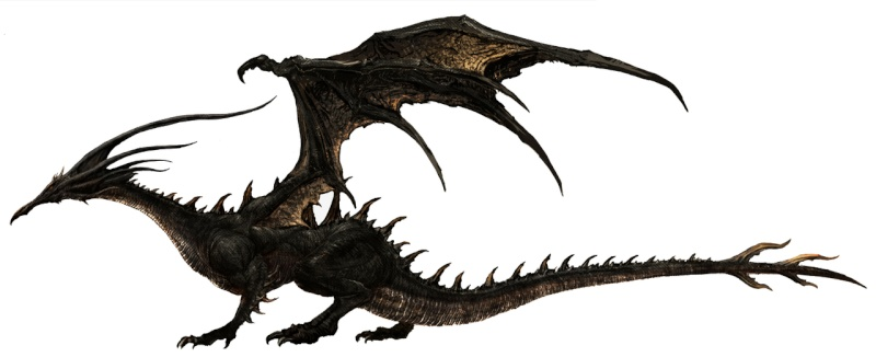 Dark Souls Kalameet le Dragon noir