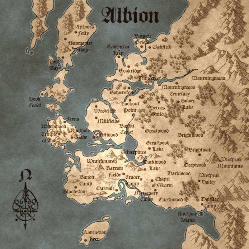 Carte Albion