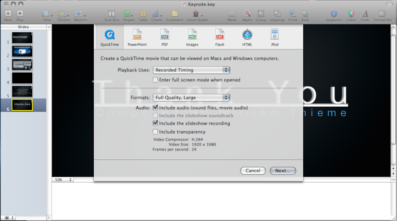 need help exporting to quicktime apple community rh discussions apple com