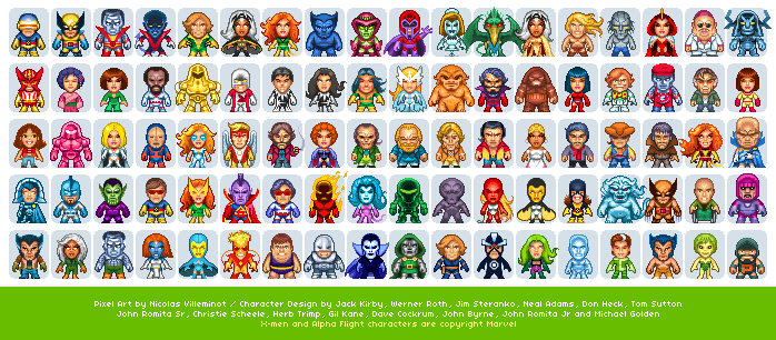 Pixel art X-Men ( Download Page - 124.4KB