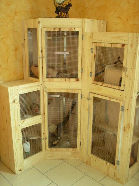 cage pour chinchilla faite maison ventana blog. Black Bedroom Furniture Sets. Home Design Ideas