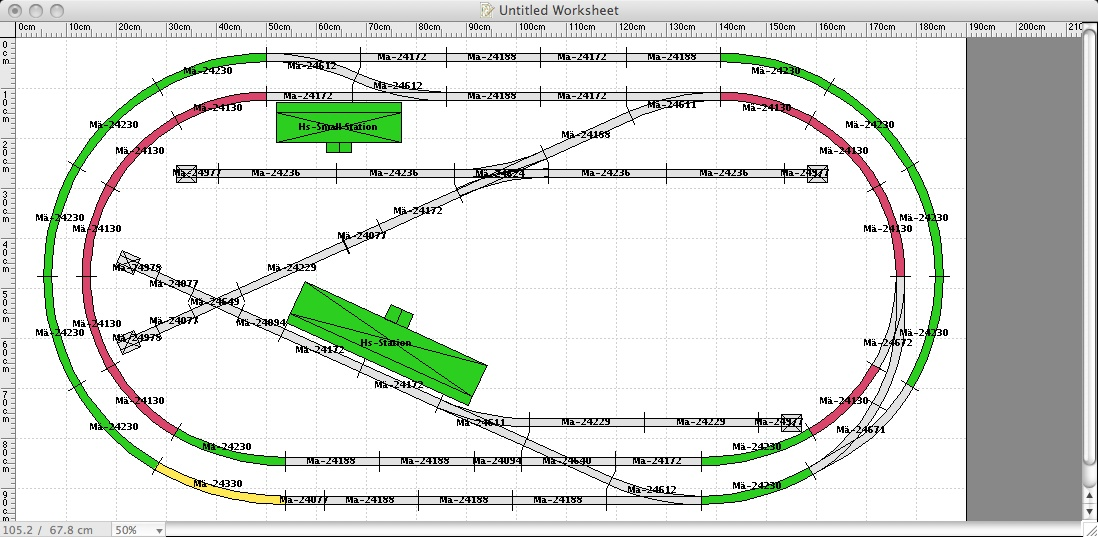 small layout C-track