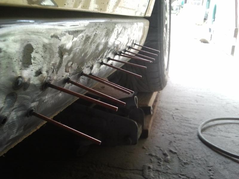 comment reparer un bas de caisse enfonce