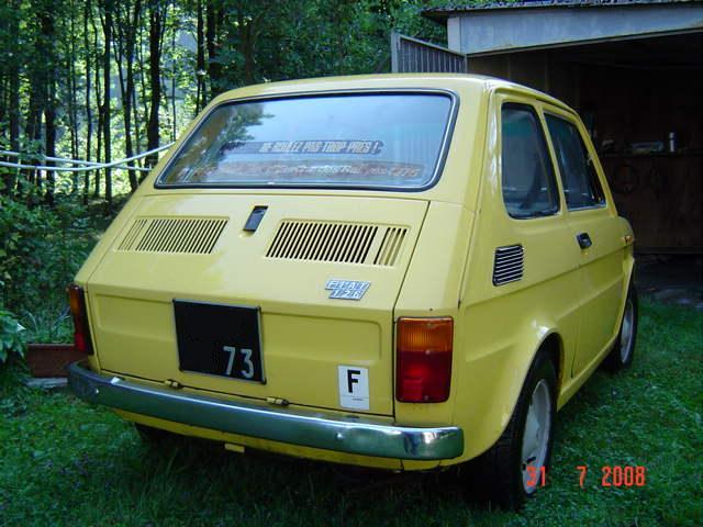 italian cars club afficher le sujet vendue fiat 126 en savoie. Black Bedroom Furniture Sets. Home Design Ideas