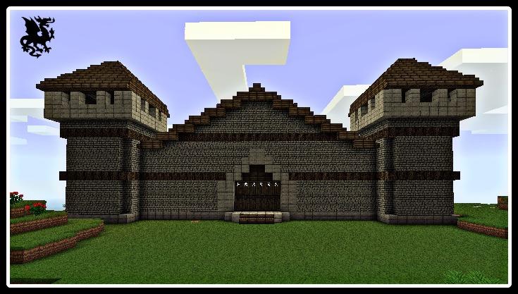 En cours mon chateau sur monster for Porte and minecraft
