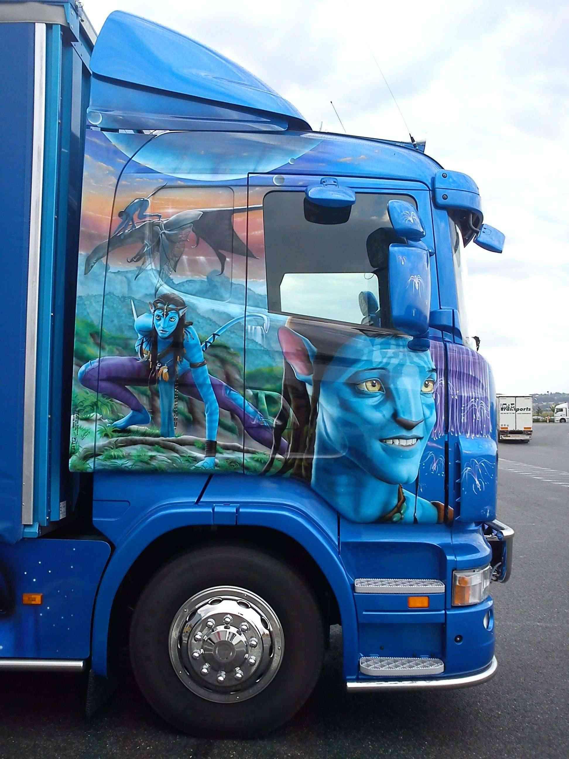 Peinture personnalisée camion