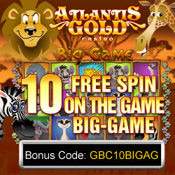 atlantis gold online casino bonus codes