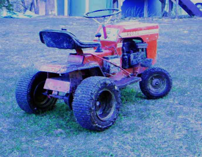 Lawn Tractor Rear End : Atv hub on lawn mower rear axle
