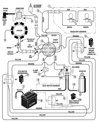 Simple Wiring Diagram For Tractor : What type of fuse should i use for montgomery ward