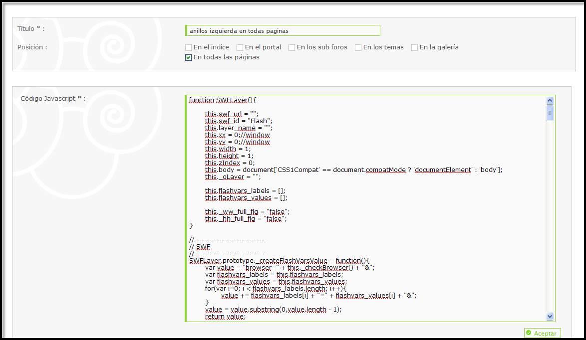 Javascripts - Estos Scripts Son Por Supuesto Acesibles En Edici N Y O Supresi N V A La Gestion De Los Codigos Javascripts En Tu Pa
