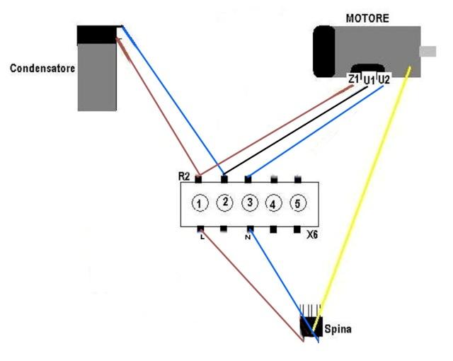 Schema Collegamento Motore Lavatrice 5 Fili : Braccio meo bx proiezionisti