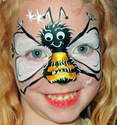 Face Paint Bumble Bee http://www.facepaintforum.com/t6904p15-this-weeks-theme-is-bugs