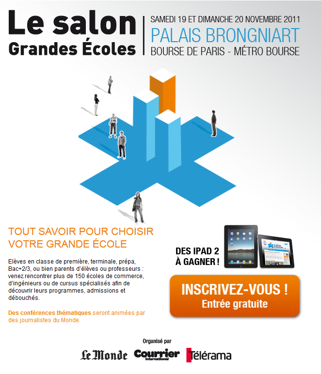 Invitation gratuite au salon des grandes coles paris for Salon grande ecole